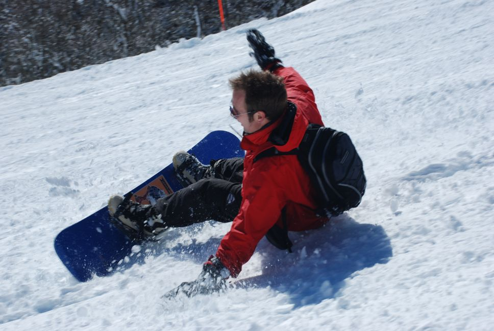 First day snowboarding