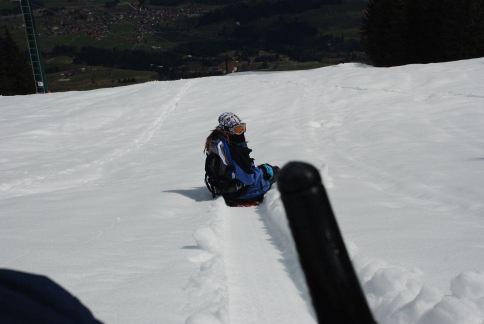 Zipflbob Deep Snow Downhill