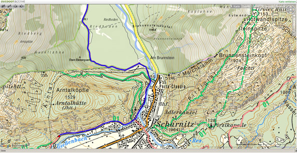 outdooractive outdoor map