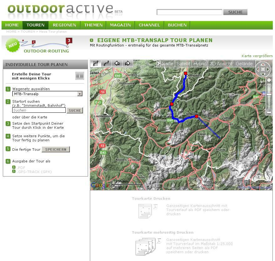 Transalp Route Planner – Maps Travel Planner