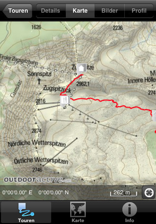 Zugspitze iPhone Hiking App